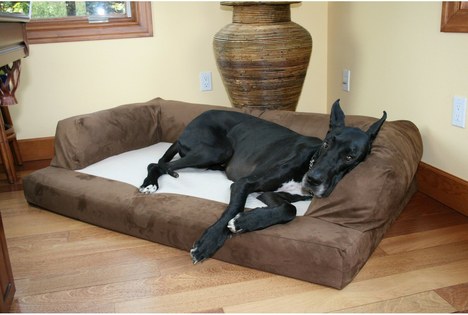 extra large orthopedic dog bed sofa couch pet puppy plush. Black Bedroom Furniture Sets. Home Design Ideas