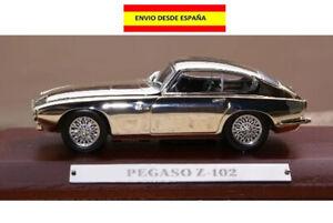 PEGASO-Z-102-1951-58-1-43-PLATEADO-CROMADO-METAL-BASE-COCHES-ALTAYA-VER-DETALLES