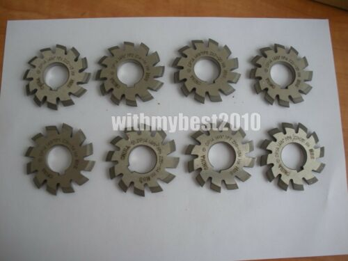 Lot 1set 8pcs Dp16 PA 14.5 Degree #1-8 Involute Gear Cutters