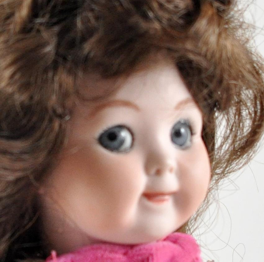 Antique german bisque doll GOOGLY EYE sleep glass eyes doll reproduction cute