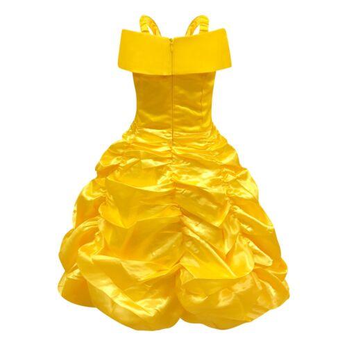 Princess Belle Costume Dress for Kids Girls Halloween Cosplay Fancy Party dress