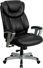 Big Amp Tall 400 Lbs Capacity Black Leather Executive Office Chair Extra Wide Seat
