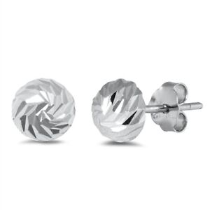 Half-Ball-Stud-Earrings-Genuine-Sterling-Silver-925-Jewelry-Product-Height-6-mm