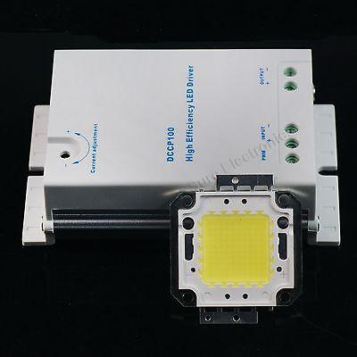 100W Watt White High Power LED Light Lamp Panel w 100W Watt DC/DC LED Driver