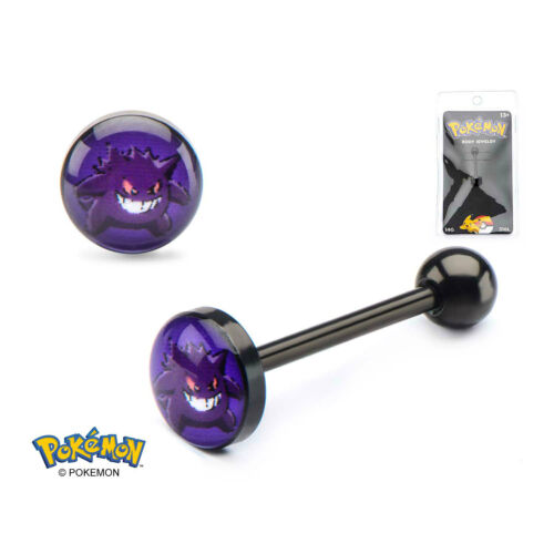 Pokemon Gengar Tongue Piercing Barbell Body Jewelry Officially LIcensed