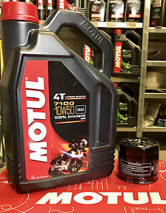 kit tagliando 4lt motul 7100 10w50 filtro olio 204 triumph. Black Bedroom Furniture Sets. Home Design Ideas