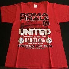 MANCHESTER UNITED T-SHIRT ROMA FINALE 2009 vs BARCELONA