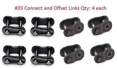 SCOOTERS GO KARTS NEW #35 ROLLER CHAIN ASSY 5 CONNECTING LINKS 10/'