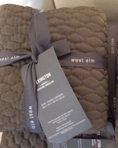 West-Elm-Quilted-Lexington-Standard-Sham-NWT-Clay-Brown-Gray
