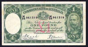 Australia 1 Pound ND P-22  1933  (M\35)  VF