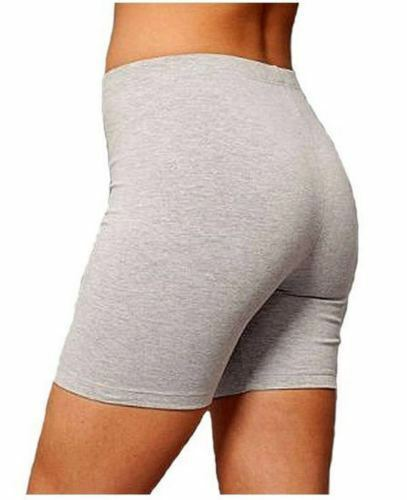LADIES COTTON CYCLING STRETCHY SHORT ACTIVE CASUAL SPORTS WOMENS LEGGINGS 8-18