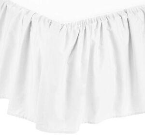 American Baby Company 100% Cotton Percale Portable Mini Crib Skirt, White