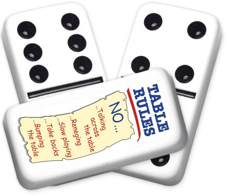Greeting Series Table Rules  Design doppio six Professional Dimensione Dominoes  spedizione veloce in tutto il mondo
