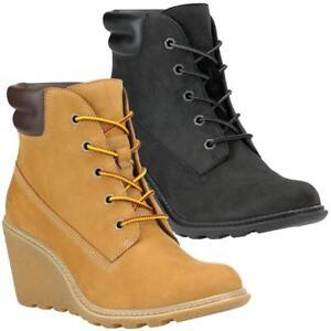 Details zu Timberland Amston 6 Inch Boots Wedge Damen Schuhe Stiefel Stiefeletten