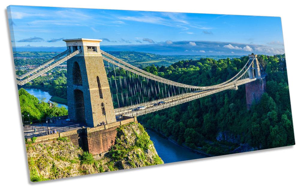 Bristol PONTE SOSPESO Foto Panoramica Panoramica Panoramica Tela Wall Art Print 806ca3