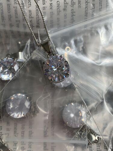 Wholesale Lot of 10 Cubic Zirconia Pendant Necklaces New
