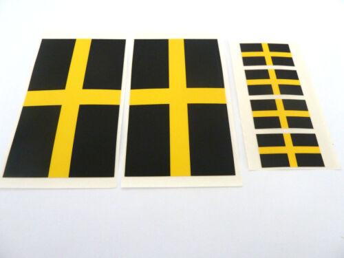 St David/'s Cross Labels 6 Vinyl Plastic St David Flag Self-Adhesive Stickers