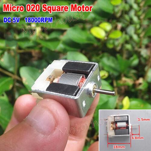DC 5V 18000RPM High Speed Thin Micro Mini Square 18mm Motor DIY Hobby Toy Model