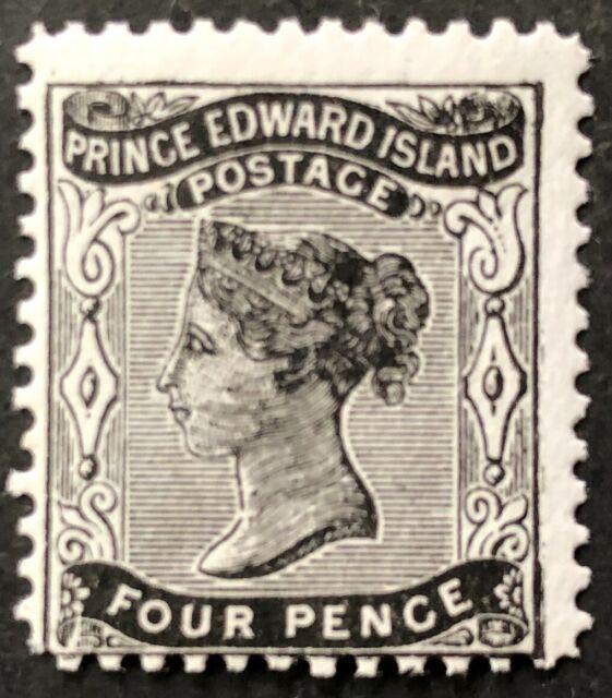 PRINCE EDWARD ISLAND 1868-1870 # 9 - QUEEN VICTORIA 4 pence BLACK MNH