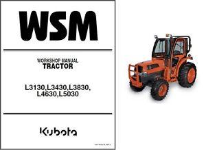 Kubota-L3130-L3430-L3830-L4630-L5030-Tractor-Service-Repair-Workshop-Manual-CD