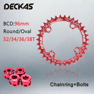 DECKAS-96BCD-32-38T-Round-Oval-Chainring-Narrow-Wide-MTB-Road-Bike-Sprocket-4Arm