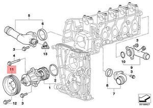 image is loading genuine-bmw-e46-coupe-sedan-wagon-water-pump-