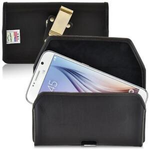 Samsung-Galaxy-S6-S6-Edge-Leather-Rotating-Belt-Clip-Case-Turtleback-NEW