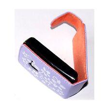 coque étui violet motif fleurs pour SonyEricsson Xperia X10 Mini + film écran