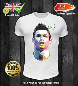 best sneakers ba038 b67a5 Details about CRISTIANO RONALDO boys kids CR7 JUVENTUS FORZA SOCCER LOVERS  UNISEX TOP t shirt