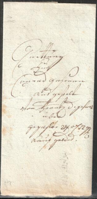 Vorphilatelie Altdeutschland  Boten Faltbrief geschnörkelte Schrift  August 1808