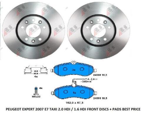 pads PEUGEOT EXPERT E7 2007 /& disques de frein arrière gttaxi
