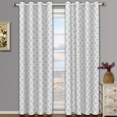 Meridian Thermal Grommet Room-Darkening Window Curtains Set of 2 Panels