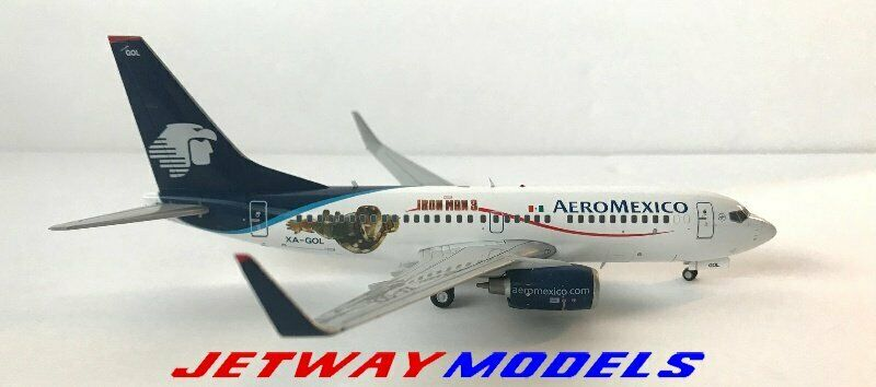 Nouveau 1 200 JC Wings Aeromexico Boeing B 737-700 XA-Gol Ironman III modèle LH2182