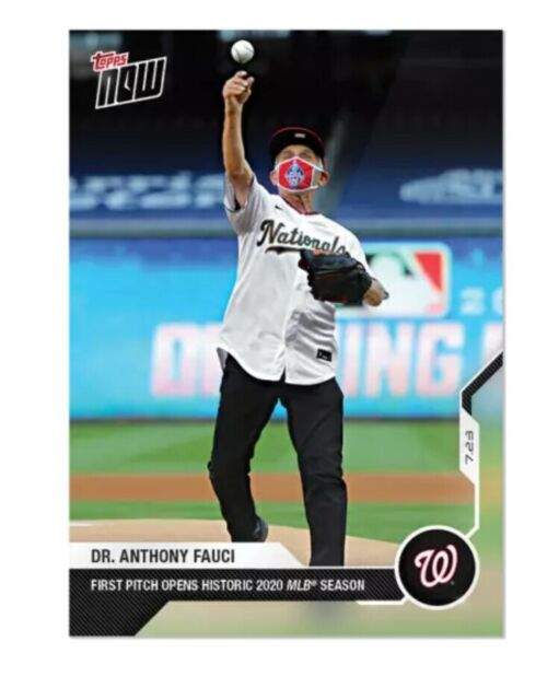 Dr. Anthony FAUCI TOPPS NOW WASHINGTON NATIONALS FIRST PITCH BASEBALL CARD