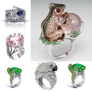 Turkish Handmade Ring 925 Silver Cocktail Women Jewelry Wedding Bridal Size 6-10
