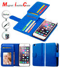 BLUE Magnet IWALLETCASE Wallet Leather Case Cover For Apple iPhone 6 Plus