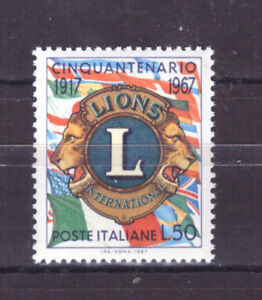 Francobolli Italia Repubblica 1967 Lions International 50 Lire Mnh