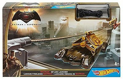 De Buen CorazóN Hot Wheels Batman Zip-line Launcher Track Set W/ Batmobile Vehicle New
