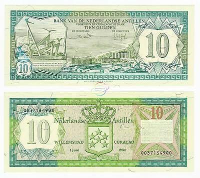 5 Gulden Netherlands Antilles 1984 CV=$40 P-15b UNC