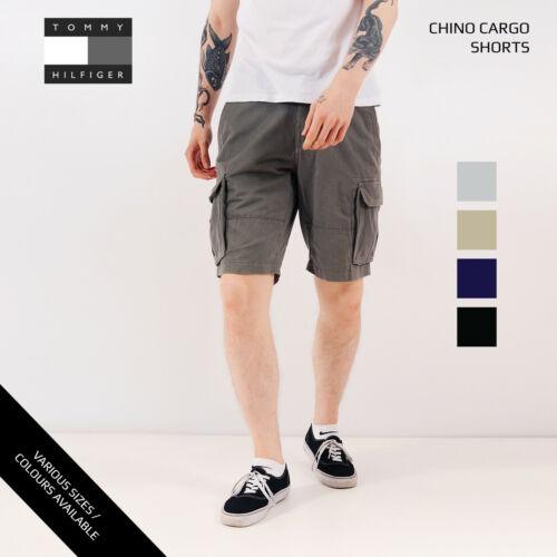 VINTAGE Tommy Hilfiger Pantaloni Corti con Tasconi Combat 28,30,31,32,33,34,36,38,40,42