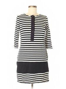 Rag-amp-Bone-Black-amp-White-Striped-Henley-Mini-Dress-Size-6