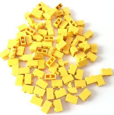 Lego 85x Brick 1x2 Giallo Misti Lotto Set Kg Sped Gratis Su + Acquisti!