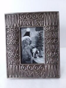 Gold-Tone-Stone-Scroll-Picture-Frame-3-1-2-034-x-5-1-2-034