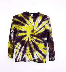 74ba4d3988f6a Details about Tie Dye T Shirt Long Sleeve Adult Youth Spiral Tye Die Cotton  S M L XL 2XL 3XL