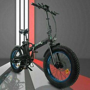 "20"" 48V 12.5 AH 500W Folding Electric Fat Tire Bike Beach Bicycle City Ebike LCD"