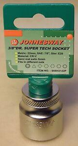"Jonnesway 22mm Super Tech 3/8"" Drive Socket for Nissan Toyota Mazda Subaru Volvo"