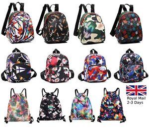Women-Ladies-Quality-Nylon-Backpack-Shoulder-Bag-Rucksack-Handbag-Satchel-Travel