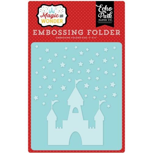 "STARRY CASTLE Echo Park 5x6/"" Embossing Folder Magic and Wonder"