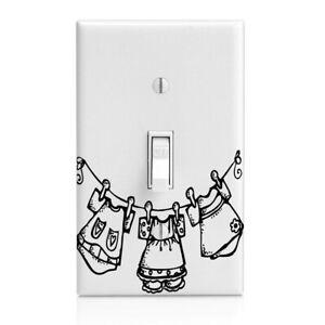 Laundry Room Clothesline Switch Cover Home Decor Night Light Cabinet Knob Ebay