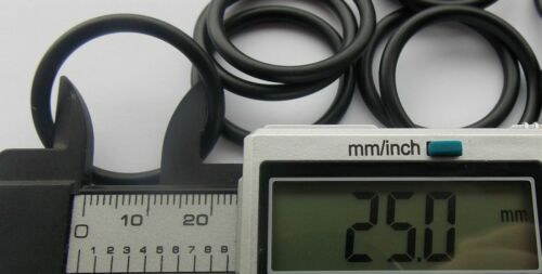 25mm ID x 3mm CS Section O Ring  O-Rings Nitrile 90 Rubber Metric